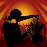 Il DJ nell'azione Immagine Stock