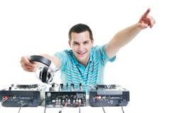 Il DJ party Fotografia Stock Libera da Diritti