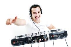 Il DJ party Fotografie Stock