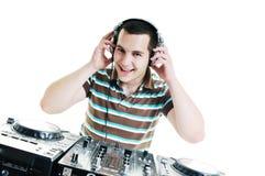 Il DJ party Fotografie Stock Libere da Diritti