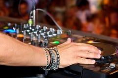 Il DJ passa Fotografia Stock Libera da Diritti