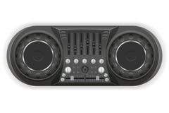 Il DJ riveste l'illustrazione di pannelli di vettore del tecnico del suono della console Immagine Stock Libera da Diritti