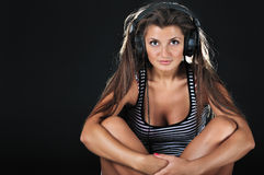 Il DJ sexy Fotografia Stock