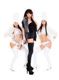 Il DJ con le ragazze go-go Fotografie Stock