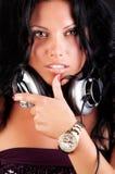 Il DJ sexy sveglio Immagine Stock