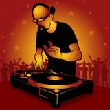 Il DJ star Fotografia Stock Libera da Diritti