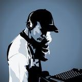 Il DJ sul lavoro Fotografie Stock Libere da Diritti