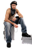 Il DJ urbano Fotografia Stock