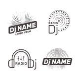Il DJ vector l'etichetta Fotografia Stock Libera da Diritti