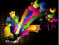 il DJ vector l'illustrazione Fotografia Stock Libera da Diritti