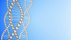 Il DNA incaglia il fondo illustrazione vettoriale