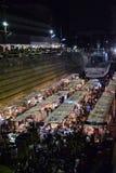 Il dockland di Bangkok (il mercato moderno del bacino) Fotografia Stock