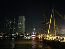 Il dockland di Bangkok la vista del fiume Fotografia Stock