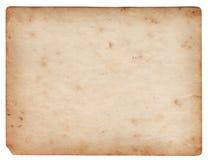 Il documento in bianco della foto dell'annata ha isolato Fotografie Stock Libere da Diritti