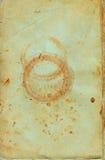Il documento invecchiato digitalmente ha scandetto dai vecchi libri illustrazione vettoriale