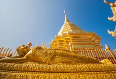 Il Doi sbalorditivo Suthep Shrine, Chiang Mai thailand immagine stock