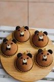 Il dolce adorabile della mousse dell'orso immagine stock libera da diritti