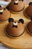 Il dolce adorabile della mousse dell'orso fotografia stock libera da diritti