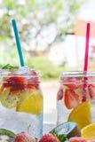 Il dolce beve la soda di frutta, l'acqua del dolce della bacca Immagini Stock Libere da Diritti