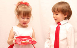 Il dolce dei San-Biglietti di S. Valentino Immagine Stock Libera da Diritti