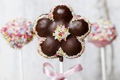 Il dolce di cioccolato schiocca nella forma del fiore fotografia stock