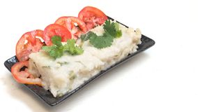Il dolce di Fried Radish nella lingua cinese è isolato kway o di rimorchio di Chai Fotografia Stock