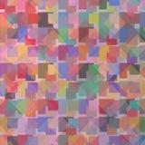 Il dolce di molti variopinti nel fondo quadrato di area illustrazione vettoriale