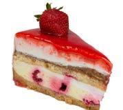 il dolce ha innaffiato la gelatina della fragola Immagine Stock