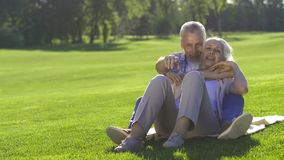 Il dolce ha invecchiato le coppie nell'amore che sogna del futuro video d archivio