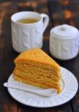 Il dolce, pasticceria, dessert, una tazza di tè è una zucchero-ciotola Immagine Stock Libera da Diritti