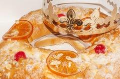 Il dolce spagnolo Roscon de Reyes Immagini Stock