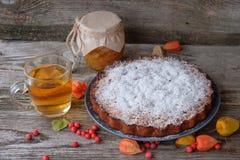 Il dolce, il tè e la Banca della pera della pera si inceppano Fotografia Stock