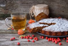 Il dolce, il tè e la Banca della pera della pera si inceppano Fotografie Stock Libere da Diritti