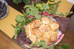 Il dolce tradizionale dell'insalata del ` di fazini del ` della Liguria fotografia stock