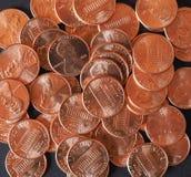 Il dollaro conia 1 centesimo del penny del grano del centesimo Immagini Stock Libere da Diritti