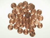 Il dollaro conia 1 centesimo del penny del grano del centesimo Immagine Stock Libera da Diritti