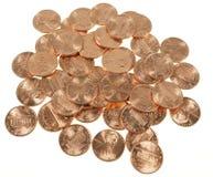 Il dollaro conia 1 centesimo del penny del grano del centesimo Immagini Stock