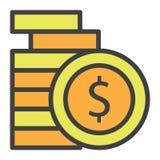 Il dollaro conia i soldi Immagine Stock Libera da Diritti