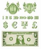 Il dollaro dettaglia il vettore Immagini Stock Libere da Diritti