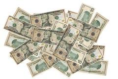 Il dollaro di valuta finanzia la priorità bassa fotografie stock libere da diritti