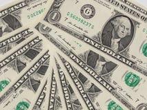 Il dollaro nota 1 dollaro Fotografia Stock Libera da Diritti