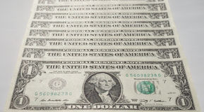 Il dollaro nota 1 dollaro Immagine Stock