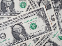 Il dollaro nota 1 dollaro Fotografie Stock Libere da Diritti