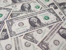 Il dollaro nota 1 dollaro Fotografia Stock