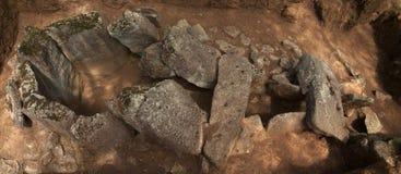 Il dolmen fa la panoramica di Rapido Esposende, Portogallo Immagine Stock