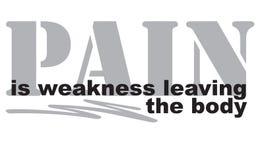 Il dolore è la debolezza che lascia il corpo Immagini Stock