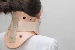 Il dolore del collo ha un collare di Philadelphia Immagini Stock Libere da Diritti