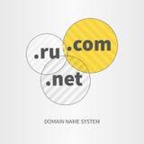 Il Domain Name assiste il logo e l'icona di web Immagine Stock