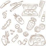 Il Doodle ha impostato con le estetiche di bellezza della natura illustrazione vettoriale
