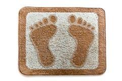 Il Doormat del footmark Fotografie Stock Libere da Diritti